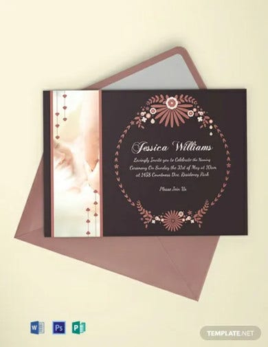 free prosperous baby naming ceremony invitation card template