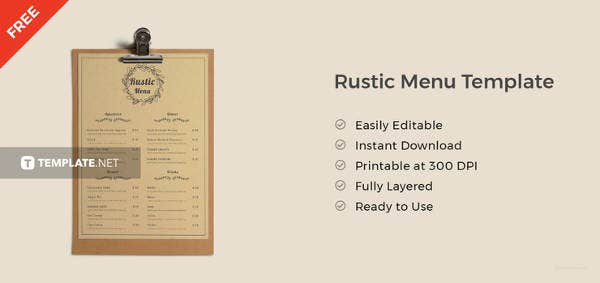free-rustic-menu-template