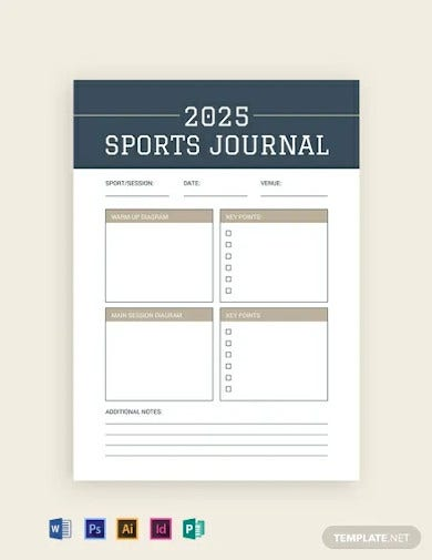 free sports journal template
