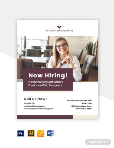 freelancer job flyer template