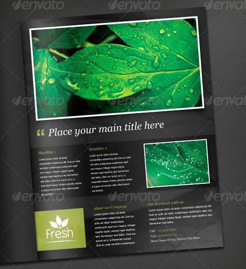 fresh magazine ad template