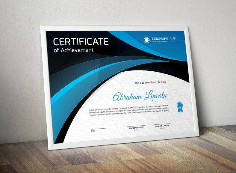 fully layered and editable certificate template 788x577