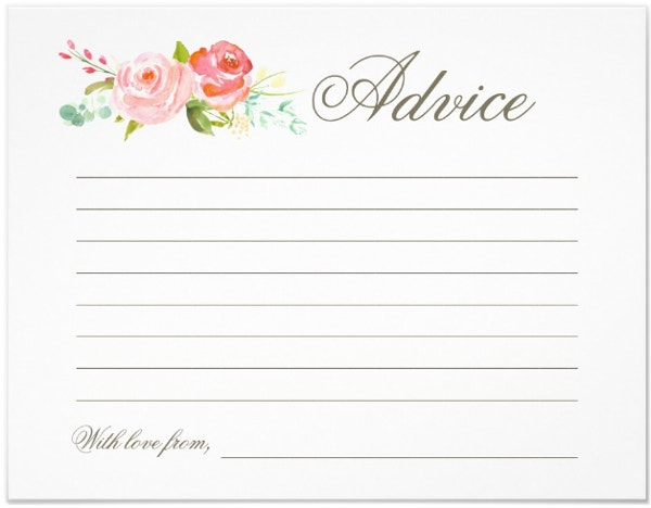 Garden Advice Card Template