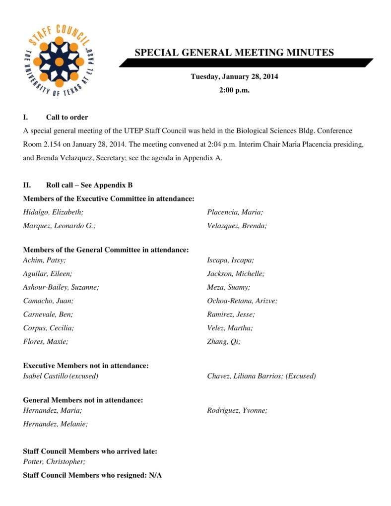 General Meeting Minutes