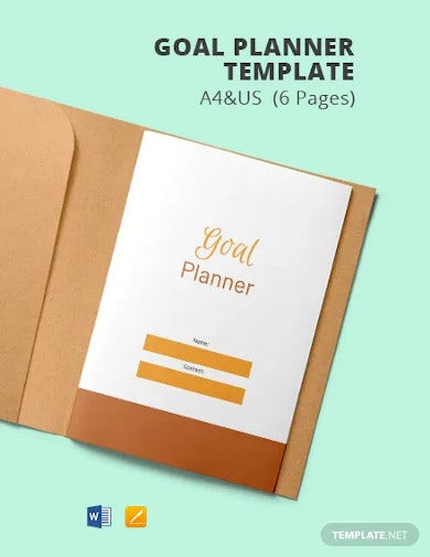 goal planner template