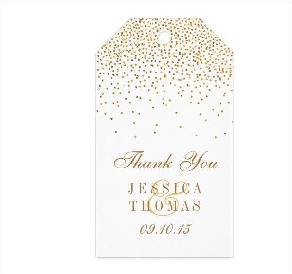 gold confetti printable hang tag template