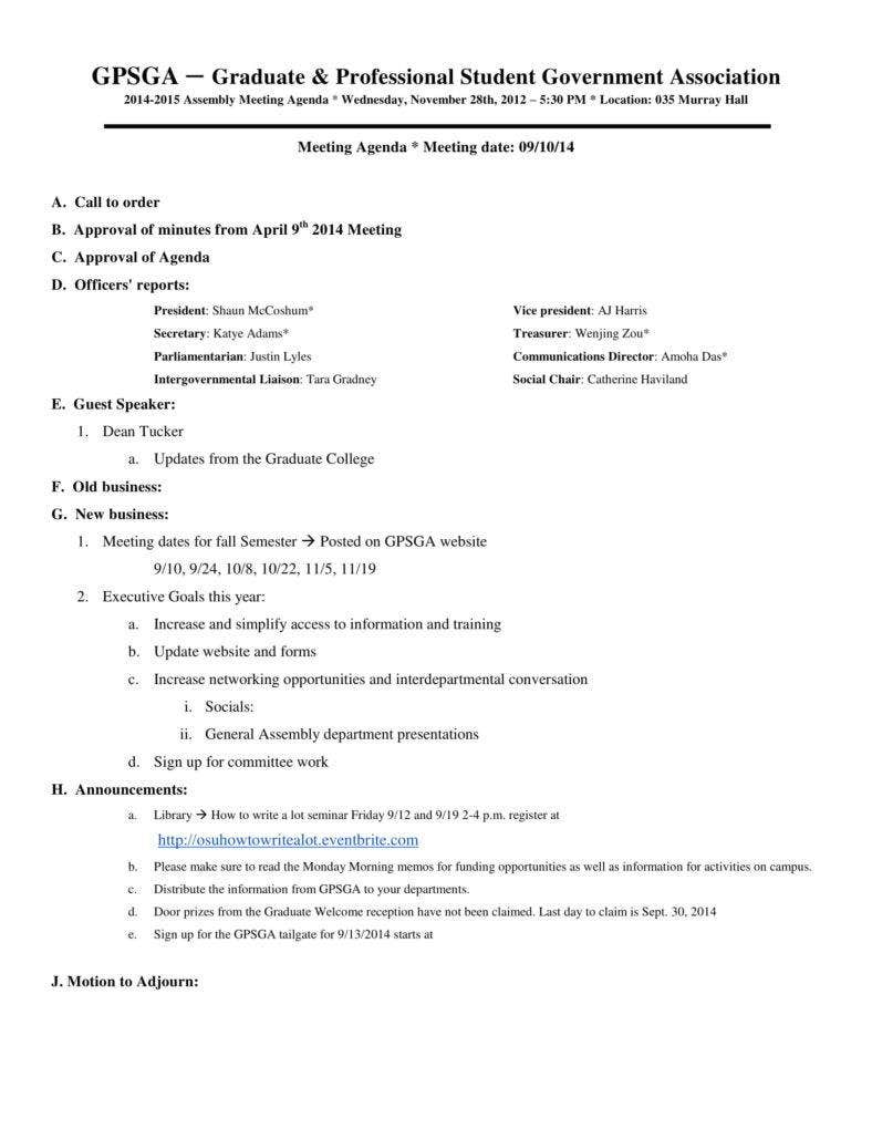 government association meeting minutes 788x1020