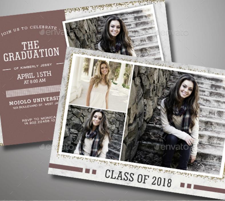 graduation collage invitation format template 788x705