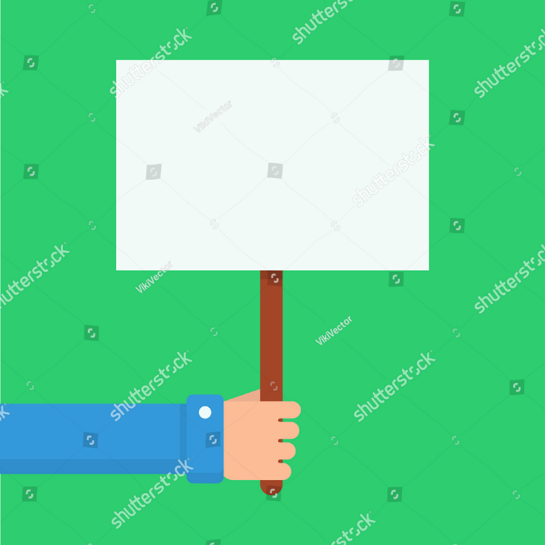 Green Background Upright Placard Template