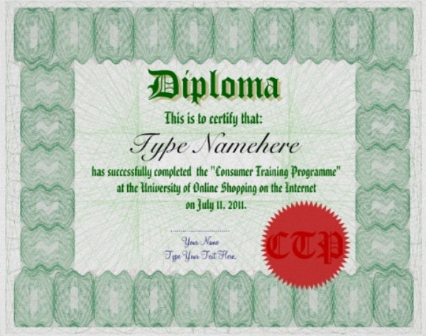 green-colored-multipurpose-diploma-certificate