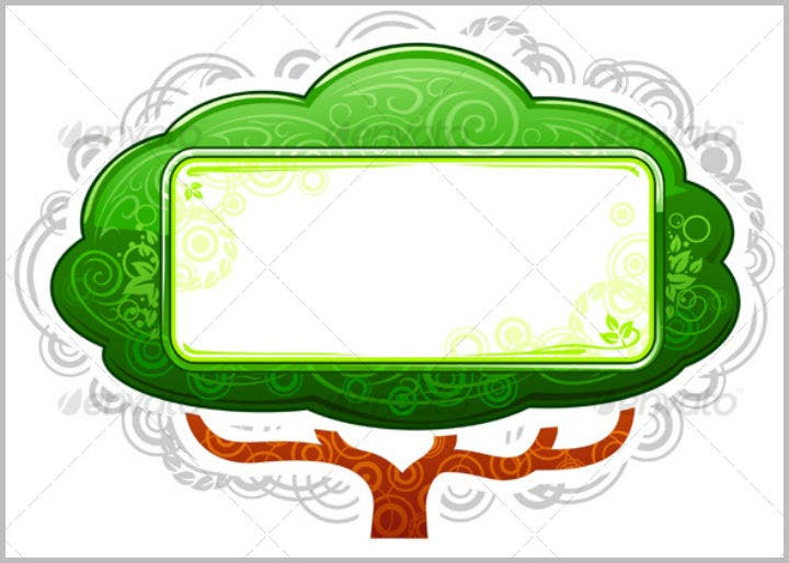 green-tree-name-placard-with-banner-template