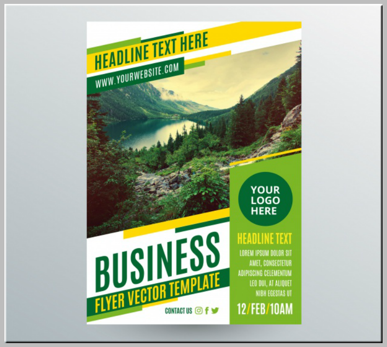 Green Yellow Nature Landscape Flyer Template