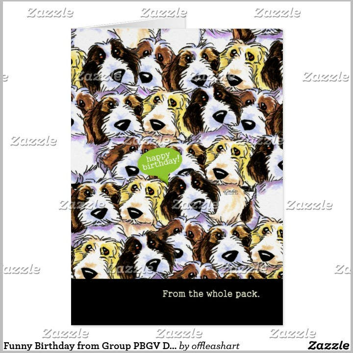 group-of-dogs-birthday-card-design-template