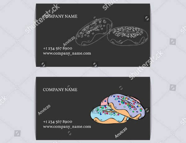 Hand Drawn Fast Food Business Card Template