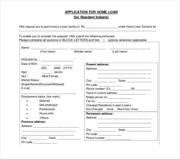 LOAN APPLICATION FORM - HDFC Bank