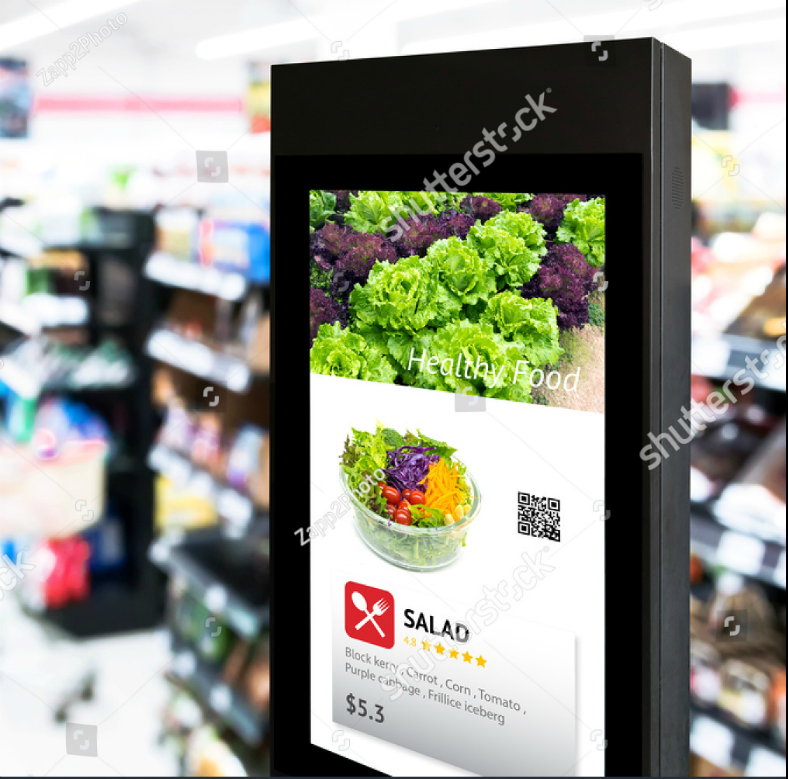 Intelligent Digital Marketing Signage Mockup