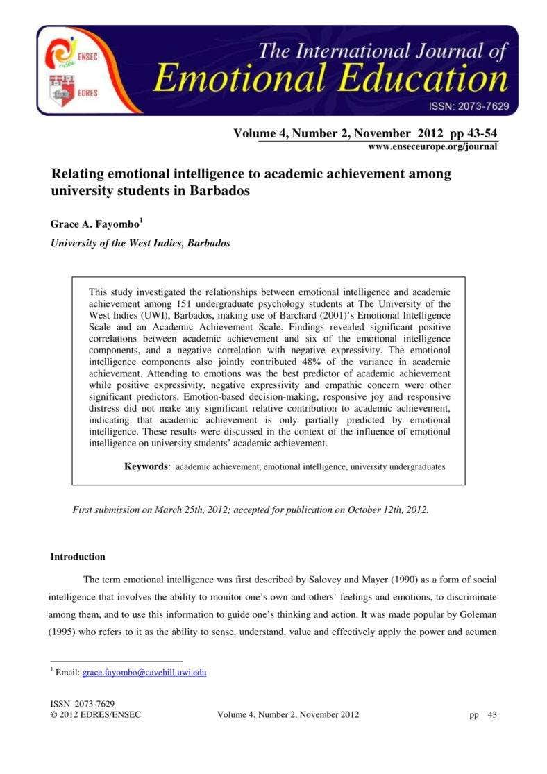 International Academic Journal Sample