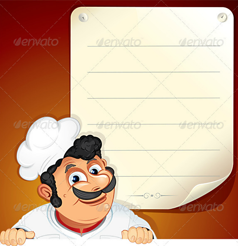 Italian Chef Blank Menu Template