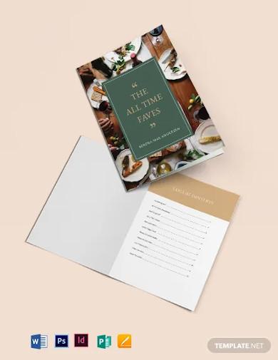 journal cookbook template