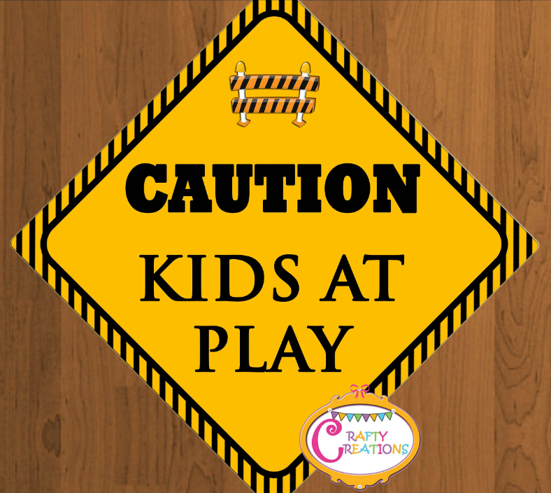 Kids At Play Caution Signage Template