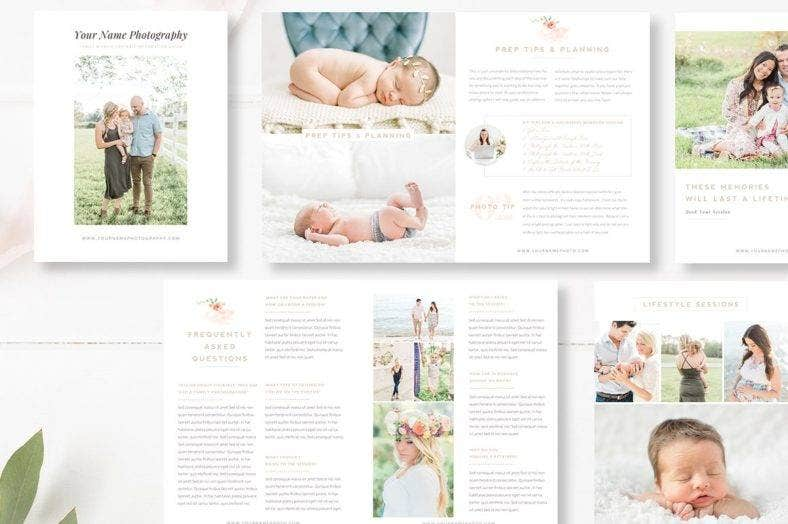 kids photography magazine template 788x524