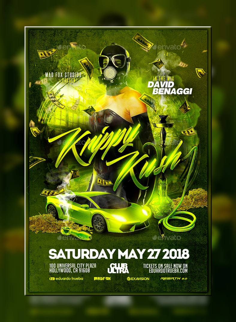 Krippy Kush Cannabis Flyer Template