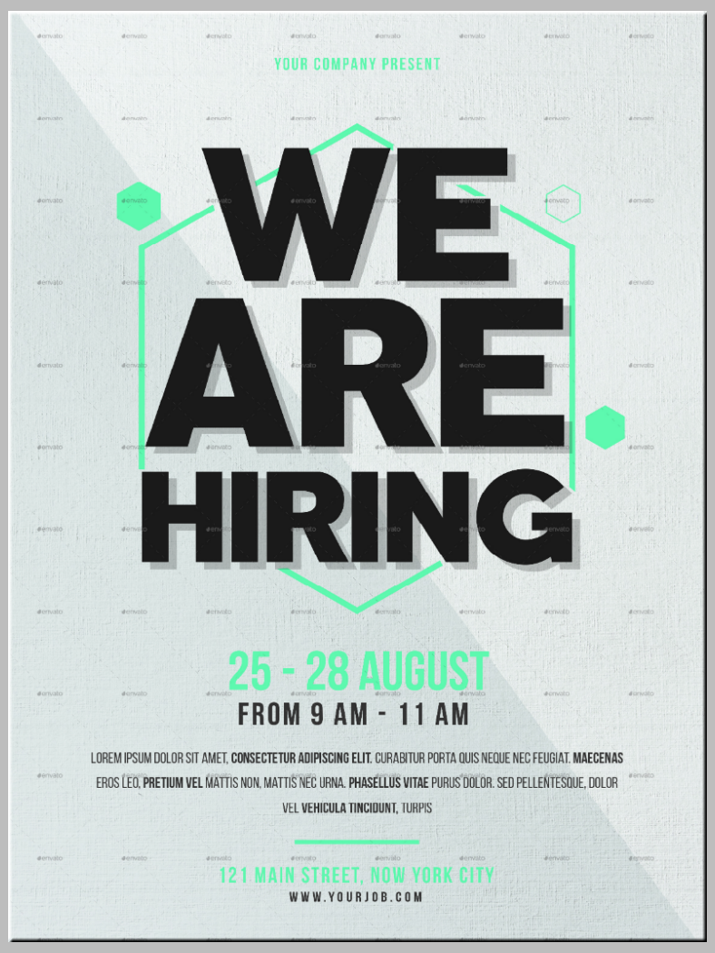 Large Typographic Job Flyer Template