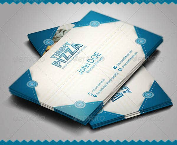 light blue fast food business card template