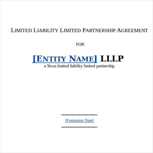 Limited Liability Partnership Agreement Sample