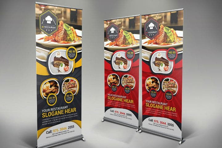 luxury-restaurant-rollup-banner-psd-template
