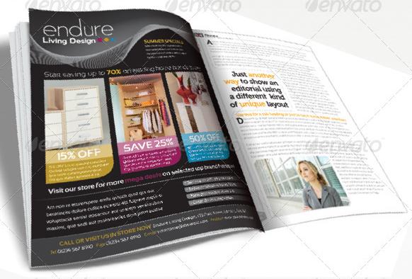 magazine advert template