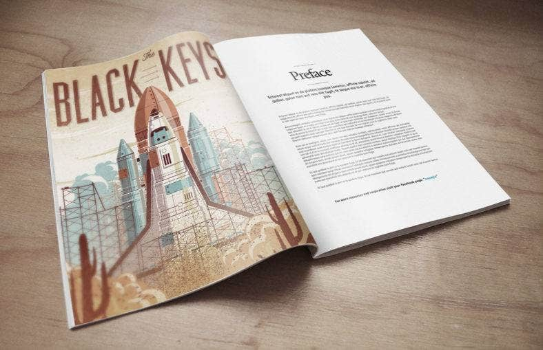 Magazine Mock-Up PSD Freebie