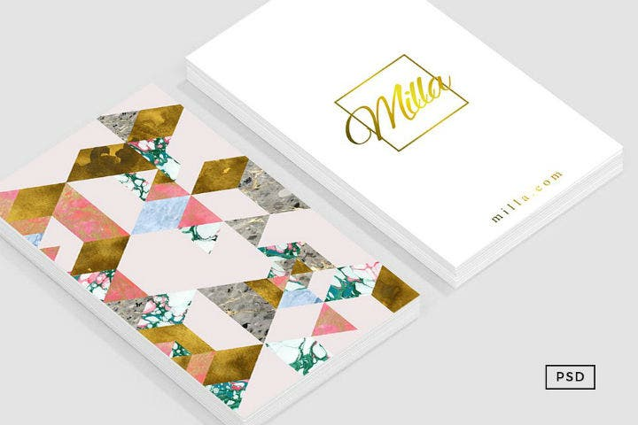 marble-geometry-feminine-business-card-template