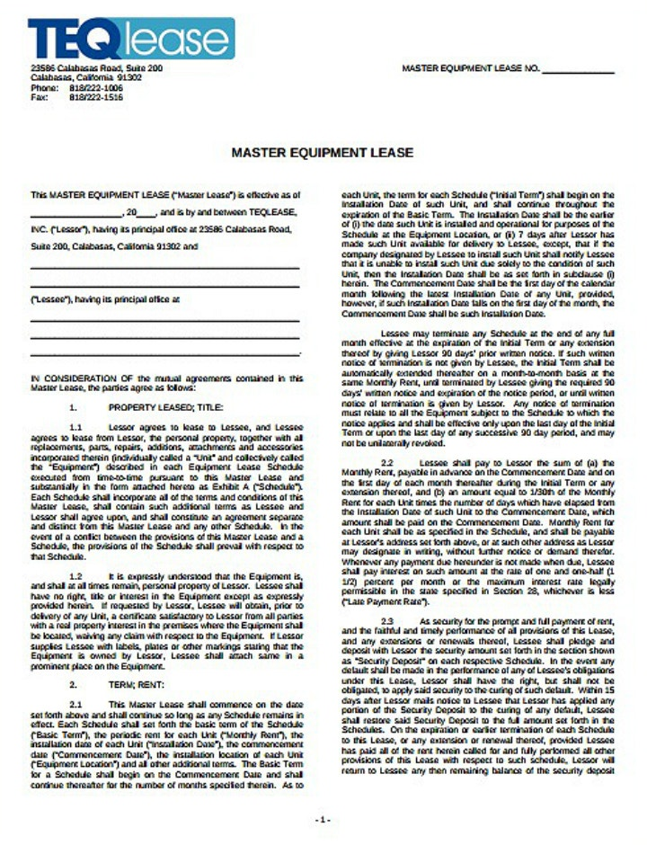 master-equipment-lease-request-form-template