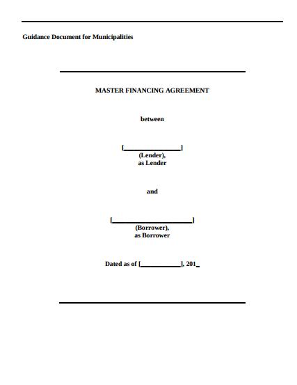 Master Financing Agreement
