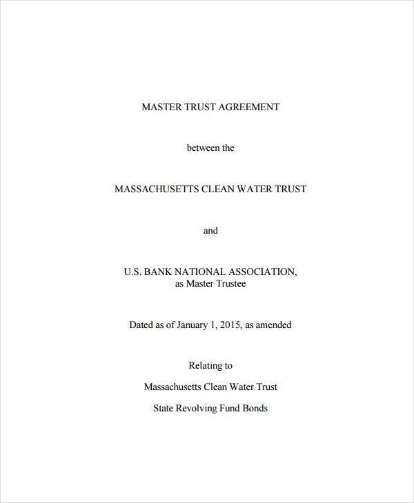 master trust agreement