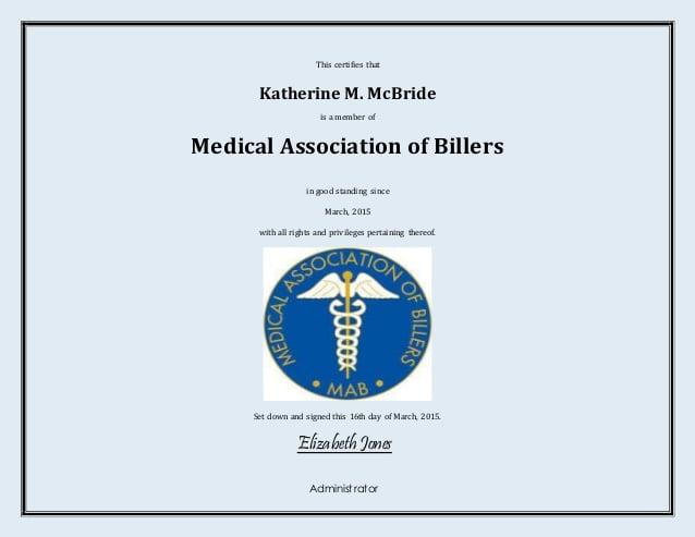 8+ Medical Membership Certificate Templates - PDF | Free & Premium ...