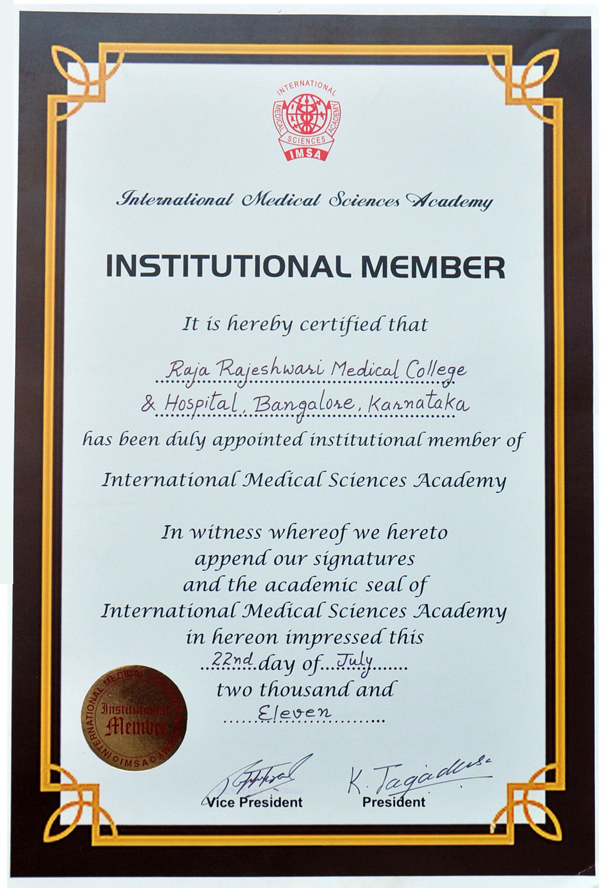 medical sciences academy membership certificate template