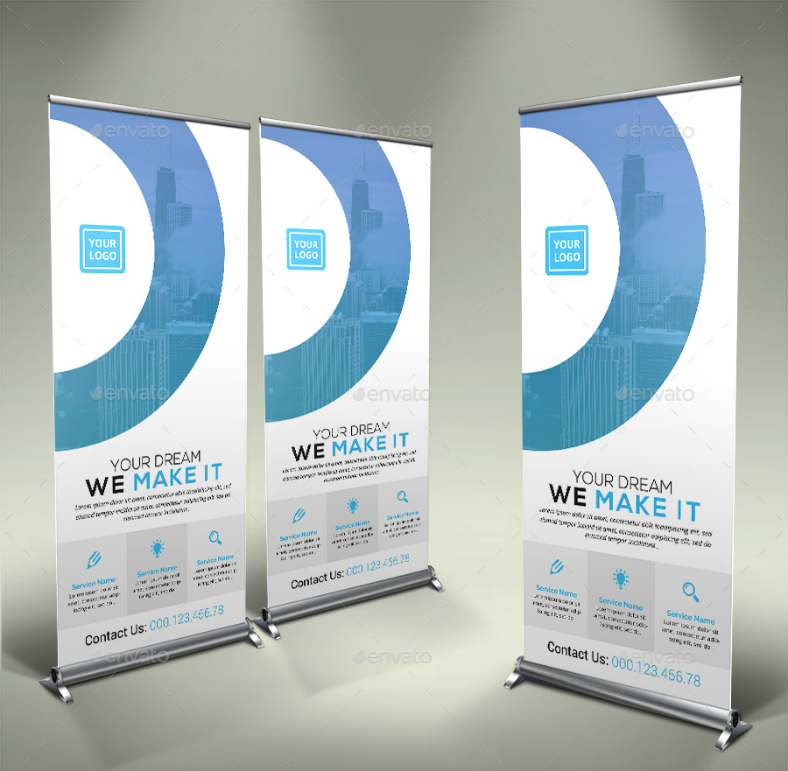 Minimalist Corporate Rollup Banner Template