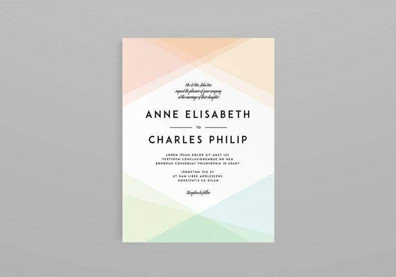 minimalist marriage invitation template 788x552