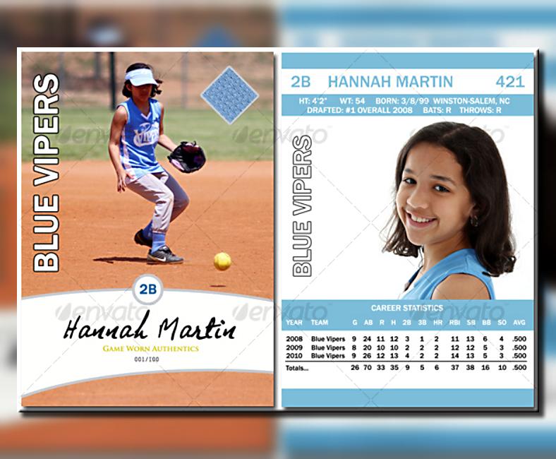 Minimalist Sports Trading Card Template