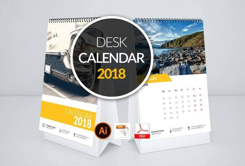 minimalist table calendar template 788x534