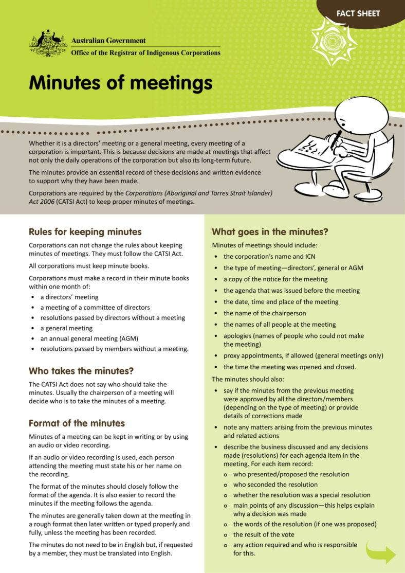 Minutes of a Meeting Guide