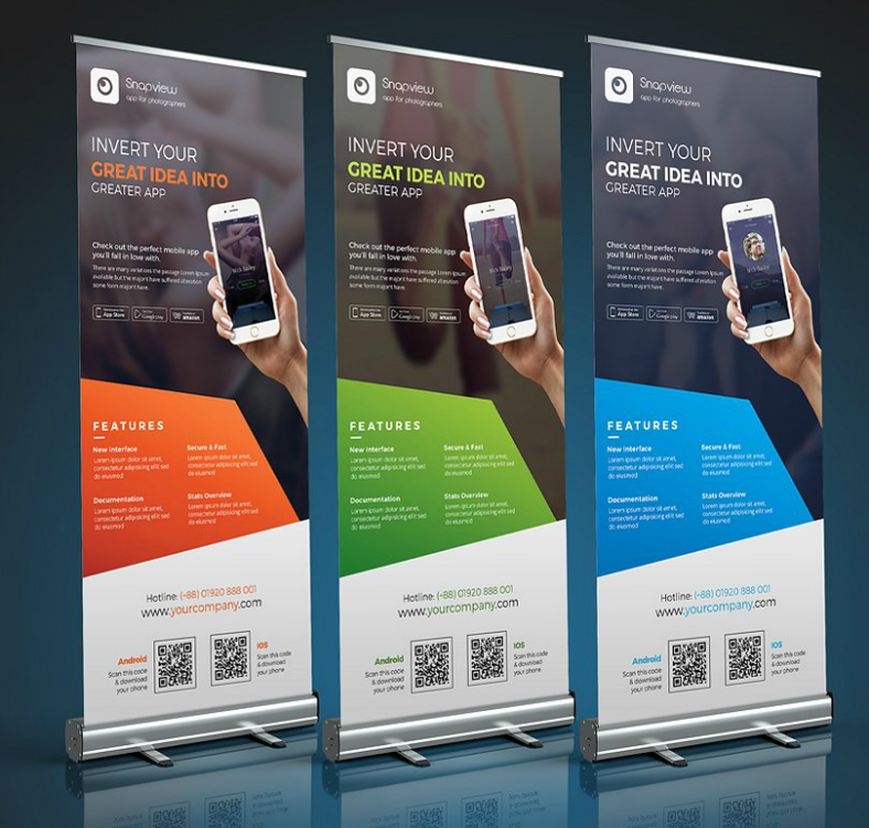 Mobile App Rollup Banner Template