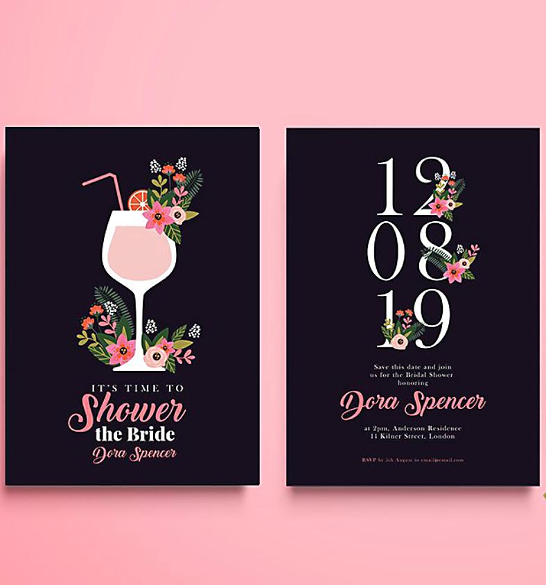 modern bridal shower invitation format 788x844