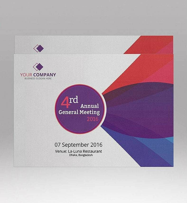 Modern Official Annual Meeting Invitation Template