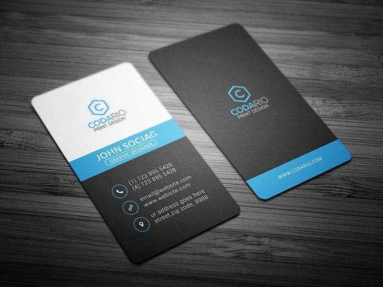 11 vertical business card designs templates psd ai indesign modern vertical business card template reheart Choice Image