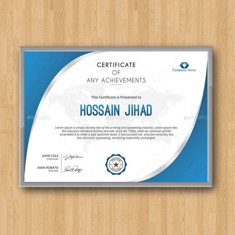 Modern and Simple Certificate