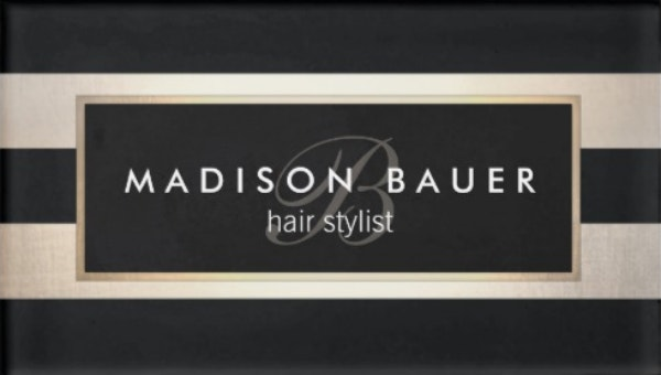 monogram-striped-black-gold-beauty-salon-name-tag