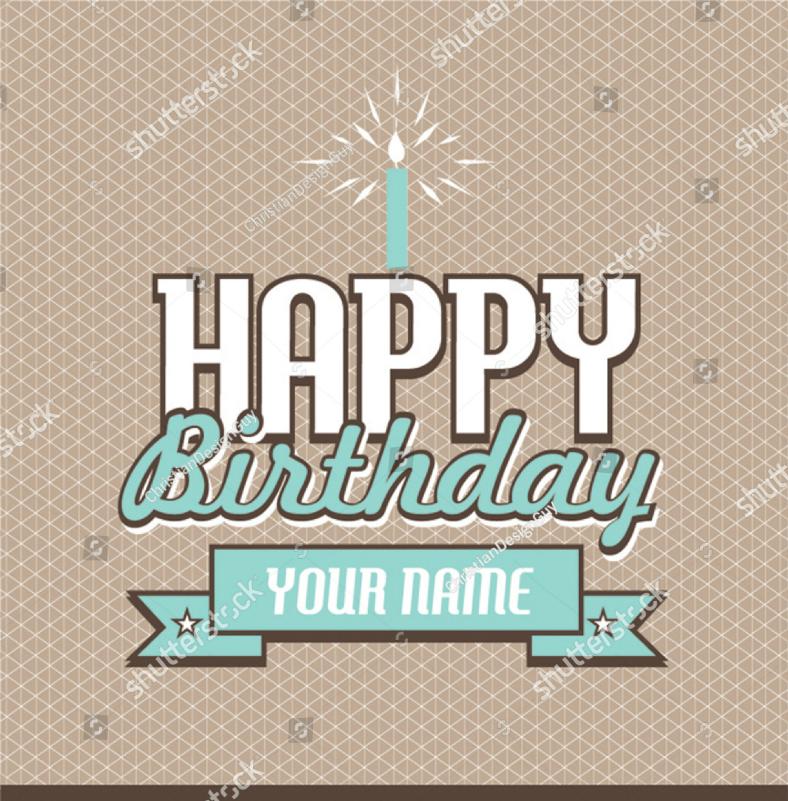 Multipurpose Retro Happy Birthday Card Template